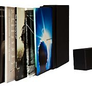 5 albums in box spines visible